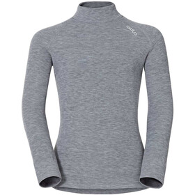 Odlo SUW Active Originals Warm Camiseta Manga Larga Cuello Tortuga Niños, grey melange